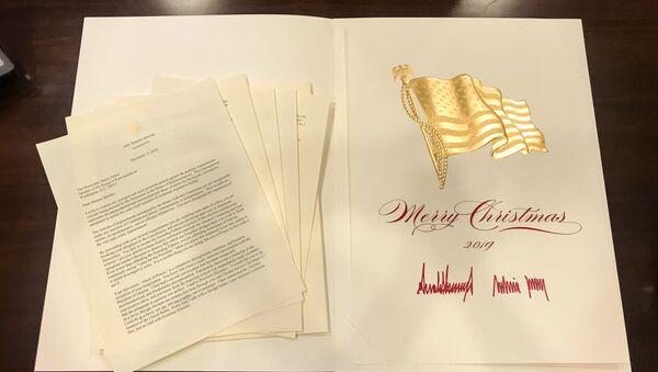 White House Sends Senators Christmas Card With Trump Letter to Pelosi Ahead of Impeachment Vote 18.12.2019 - Sputnik International