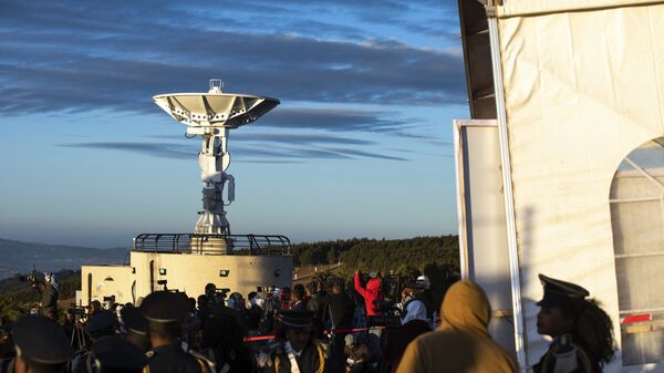 People attend the launch of Ethiopia's first micro-satellite (ETRSS-1) at the Entoto Observatory on the outskirts of the capital Addis Ababa, Friday Dec. 20, 2019 - Sputnik International
