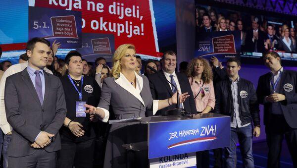 Croatian President and presidential candidate Kolinda Grabar-Kitarovic - Sputnik International