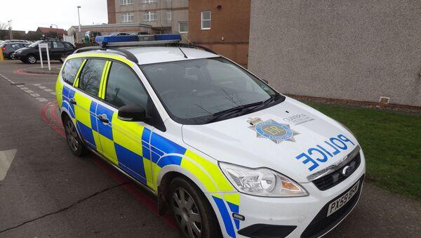 Cumbria police car, with POLICE in mirror writing (ECILOP). - Sputnik International