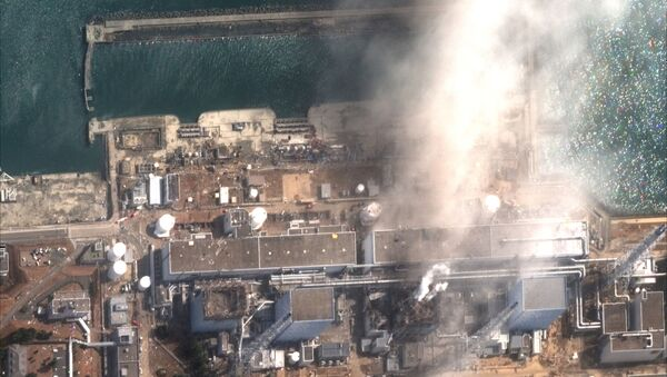 The Fukushima Daiichi Nuclear Power Plant is seen after an explosion, in this handout satellite image taken March 14, 2011 and released on December 24, 2019 by Maxar Technologie - Sputnik International