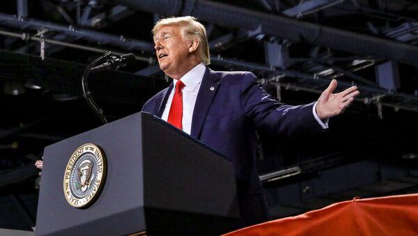 U.S. President Donald Trump speaks during a campaign rally in Battle Creek, Michigan, U.S., December 18, 2019 - Sputnik International