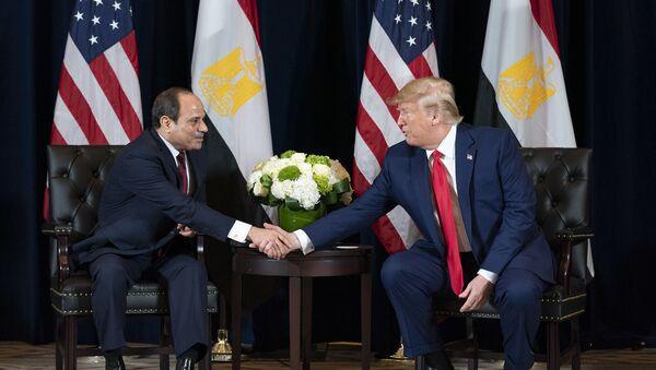 President Donald J. Trump participates in a bilateral meeting with the President of the Arab Republic of Egypt Abdel Fattah el-Sisi - Sputnik International