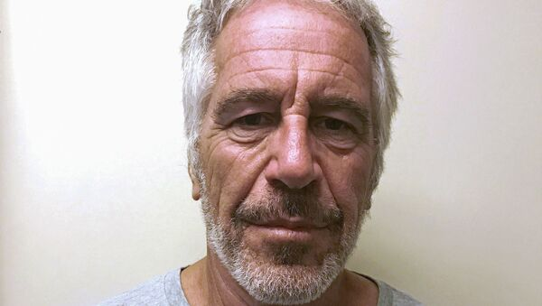 FILE PHOTO: U.S. financier Jeffrey Epstein appears in a photograph taken for the New York State Division of Criminal Justice Services' sex offender registry March 28, 2017 and obtained by Reuters July 10, 2019.  New York State Division of Criminal Justice Services/Handout via REUTERS. THIS IMAGE HAS BEEN SUPPLIED BY A THIRD PARTY. THIS IMAGE WAS PROCESSED BY REUTERS TO ENHANCE QUALITY, AN UNPROCESSED VERSION HAS BEEN PROVIDED SEPARATELY./File Photo - Sputnik International