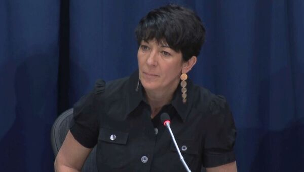 Ghislaine Maxwell, longtime associate of accused sex trafficker Jeffrey Epstein, speaks at a news conference on oceans and sustainable development at the United Nations in New York, U.S. June 25, 2013 in this screengrab taken from United Nations TV footage.  - Sputnik International