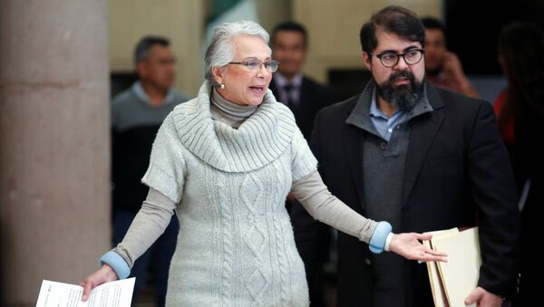 Mexico's Interior Minister Olga Sanchez Cordero arrives at a news conference in Mexico City, Mexico December 30, 2019. - Sputnik International