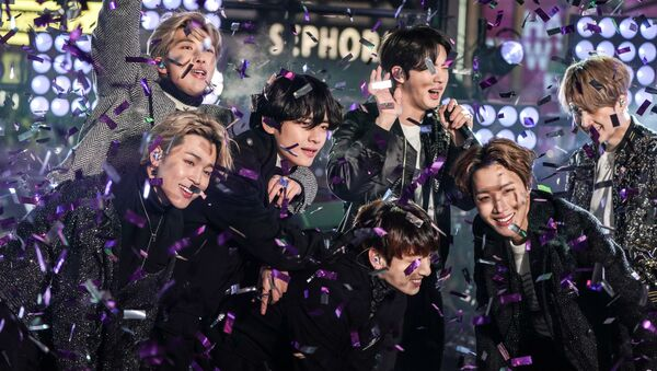 BTS performs during New Year's Eve celebrations in Times Square in the Manhattan borough of New York, U.S., December 31, 2019.   - Sputnik International