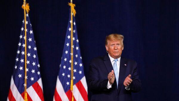 U.S. President Donald Trump makes a speech to evangelical supporters in Miami, Florida, U.S., January 3, 2020.   - Sputnik International