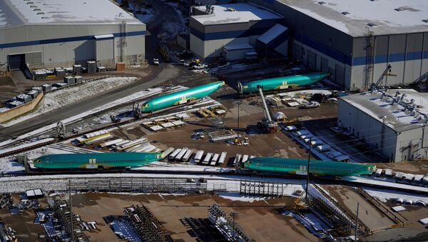 FILE PHOTO: Airplane fuselages bound for Boeing's 737 Max production facility await shipment on rail sidings at their top supplier, Spirit AeroSystems Holdings Inc, in Wichita, Kansas, U.S. December 17, 2019 - Sputnik International