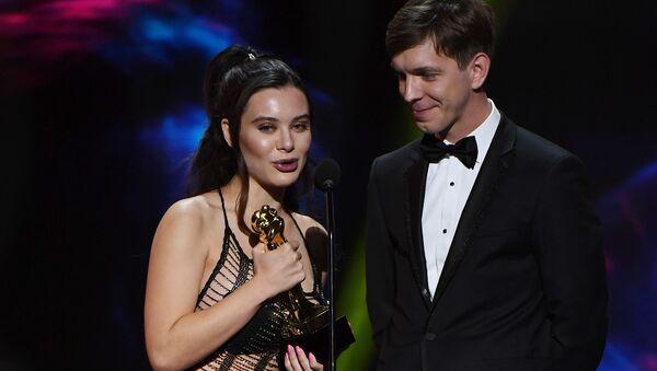 Adult film actress Lana Rhoades (L) and adult film actor Markus Dupree - Sputnik International