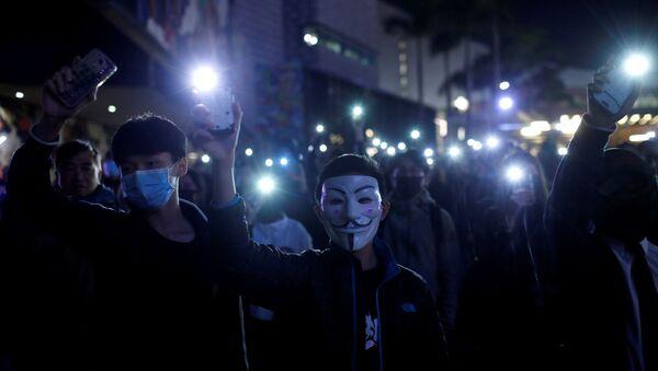 Anti-government protest in Hong Kong - Sputnik International