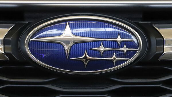 n this Feb. 14, 2019, file photo the Subaru logo on the front grill of a 2019 Subaru Impreza sedan is displayed at the 2019 Pittsburgh International Auto Show in Pittsburgh. Subaru is recalling over 400,000 vehicles in the U.S. to fix problems with engine computers and debris that can fall into motors. The first recall covers 466,000 Imprezas from 2017 through 2019, and 2018 and 2019 Crosstreks. - Sputnik International
