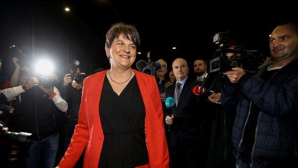 Arlene Foster, Leader of the DUP, arrives at the count centre, Titanic Quarter, Belfast, Northern Ireland December 13, 2019.  - Sputnik International