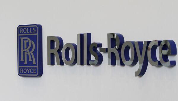 A Rolls-Royce logo in Prince George, Va. - Sputnik International
