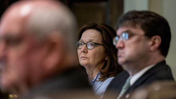 CIA Director Gina Haspel, center, attends a cabinet meeting in the Cabinet Room of the White House, file photo. - Sputnik International