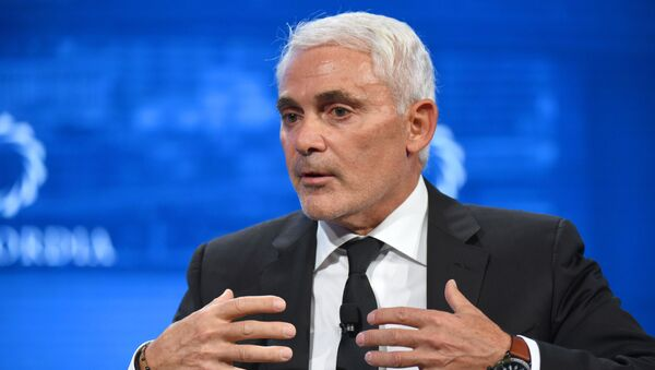 CEO of the Fiore Group and Founder and President of Radcliffe Foundation Frank Giustra speaks onstage during the 2018 Concordia Annual Summit - Day 2 at Grand Hyatt New York on September 25, 2018 in New York City. - Sputnik International
