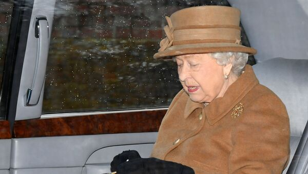 Britain's Queen Elizabeth departs from St Mary Magdalene's church on the Sandringham estate in eastern England, Britain January 12, 2020. REUTERS/Toby Melville - Sputnik International
