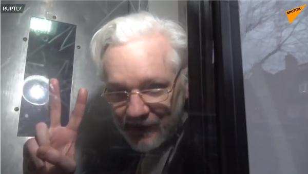 Julian Assange outside a London court, January 13, 2020. - Sputnik International