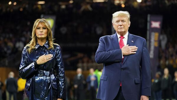 U.S. President Donald Trump and first lady Melania Trump attend the College Football Playoff National Championship game in New Orleans, Louisiana - Sputnik International