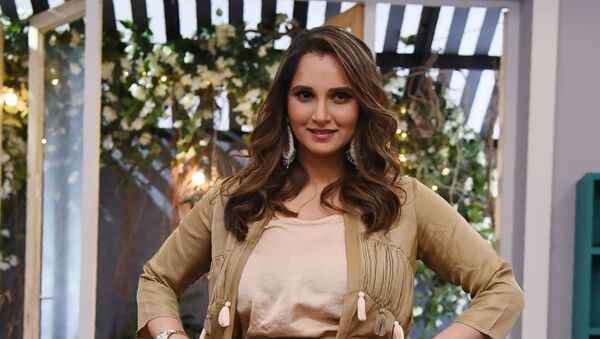 Indian former tennis player Sania Mirza poses during a location shooting of the reality talk show 'Vogue BFFs' season 2 in Mumbai on January 25, 2019 - Sputnik International