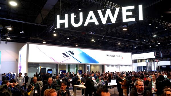The Huawei booth is shown during the 2020 CES in Las Vegas, Nevada, U.S. January 7, 2020 - Sputnik International