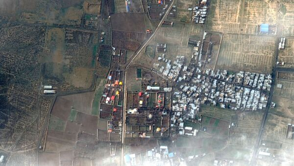 A view shows the area where an Ukraine International Airlines plane crashed after take-off from Iran's Imam Khomeini airport, on the outskirts of Tehran, in this handout Maxar's WorldView-2 satellite image taken January 9, 2020 - Sputnik International