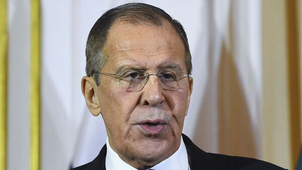 Russian Foreign Minister Sergey Lavrov attends a joint press conference with his Sri Lankan counterpart Dinesh Gunawardena (not pictured) in Colombo on January 14, 2020.  - Sputnik International