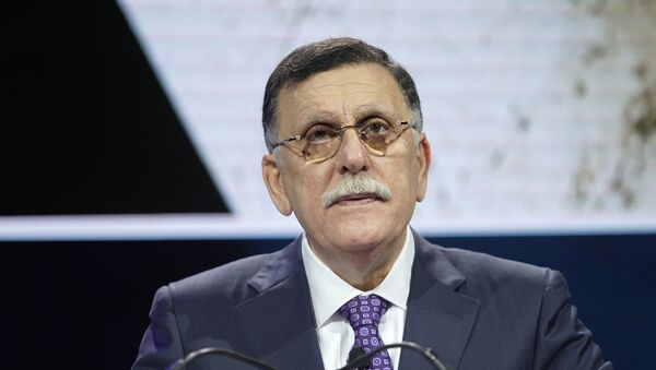 Fayez Al-sarraj, Prime Minister, Government Of National Accord Of Libya, speaks onstage during the 2019 Concordia Annual Summit - Day 1 at Grand Hyatt New York on September 23, 2019 in New York City.  - Sputnik International