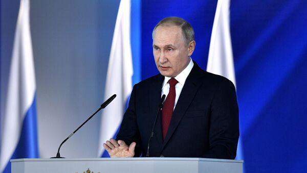 Russian President Vladimir Putin's annual address to to the Federal Assembly - Sputnik International