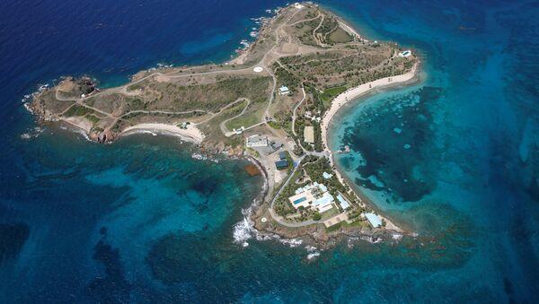 Little St. James Island, one of the properties of financier Jeffrey Epstein, is seen in an aerial view near Charlotte Amalie, St. Thomas, U.S. Virgin Islands July 21, 2019. - Sputnik International