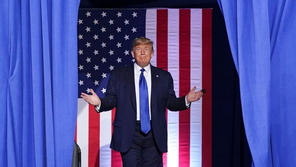 U.S. President Donald Trump arrives for a campaign rally at the University of Wisconsin-Milwaukee, in Milwaukee, Wisconsin, U.S., January 14, 2020.  - Sputnik International