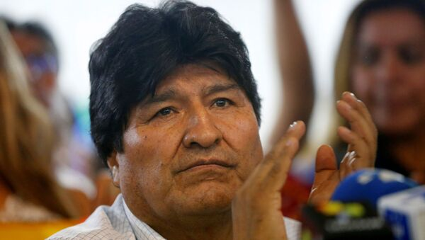 Former Bolivian President Evo Morales holds a news conference where he announced the candidates for president and vice president for his Movements for Socialism (MAS) coalition party, in Buenos Aires, Argentina January 19, 2020. - Sputnik International