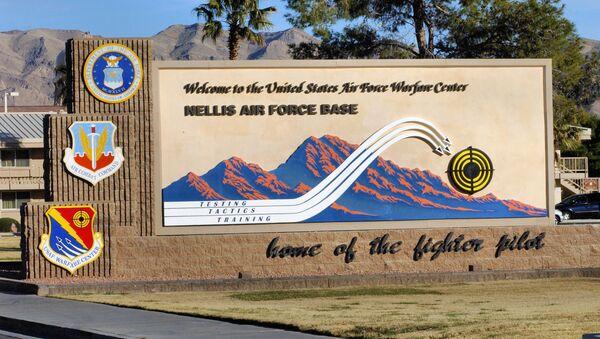 Welcome To Nellis AFB Sign - Sputnik International
