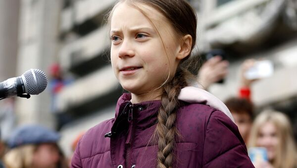Swedish teenage climate activist Greta Thunberg takes part in a demonstration of the Fridays for Future movement in Lausanne, Switzerland January 17, 2020 - Sputnik International