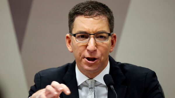 Author and journalist Glenn Greenwald speaks during a meeting at Commission of Constitution and Justice in the Brazilian Federal Senate in Brasilia - Sputnik International