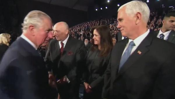 Prince Charles skips greeting US's Pence, shakes hands with Israel's Netanyahu - Sputnik International