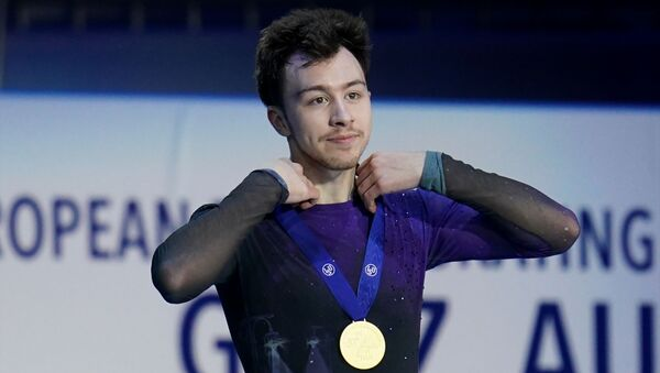 Russian Figure Skater Dmitri Aliev at Graz 2020 - Sputnik International