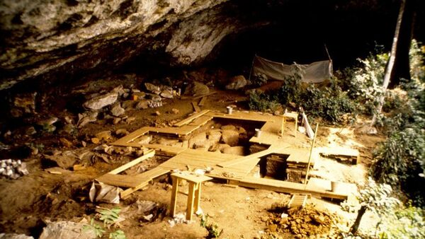The rock shelter at Shum Laka in Cameroon. Surprisingly, the ancient people who lived at this rock shelter are not related to the people in the region today. - Sputnik International