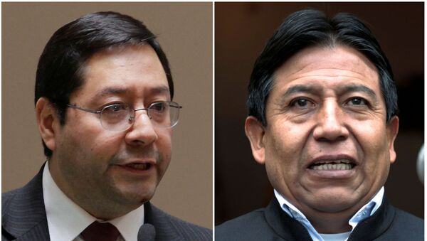 Bolivia's then Minister of Economy and Finance Luis Arce Catacora  and then Foreign Minister David Choquehuanca - Sputnik International