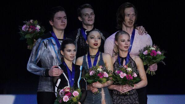 Figure skating. European Figure Skating Championships in Graz. Couples. Award ceremony - Sputnik International