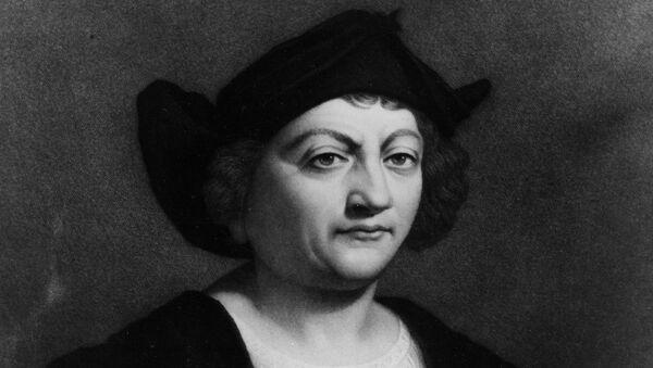 Italian-Spanish explorer Christopher Columbus is shown in this work  by Italian painter Sebastiano Del Piombo.  (AP Photo) - Sputnik International