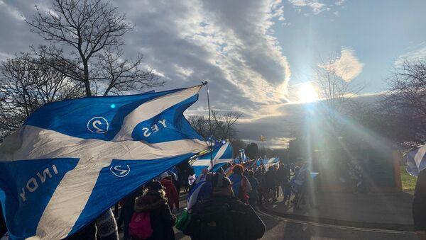 Freedom March for Scottish Independence in Inverness, the Scottish Highlands - Sputnik International