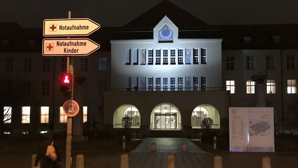 The main entrance, with a sign for the emergency room, of the Klinikum Schwabing is pictured, after Germany has declared its first confirmed case of the deadly coronavirus - Sputnik International