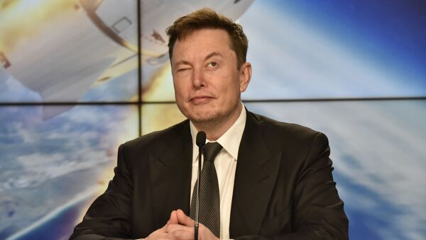 SpaceX founder and chief engineer Elon Musk reacts at a post-launch news conference to discuss the  SpaceX Crew Dragon astronaut capsule in-flight abort test at the Kennedy Space Center in Cape Canaveral, Florida, U.S. January 19, 2020 - Sputnik International