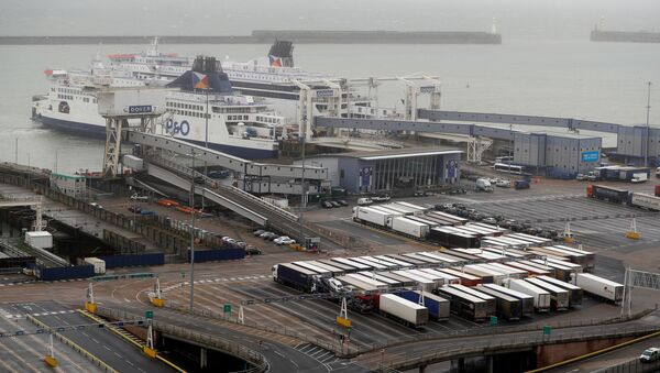 A general view shows the port on Brexit day, in Dover, Britain January 31, 2020 - Sputnik International