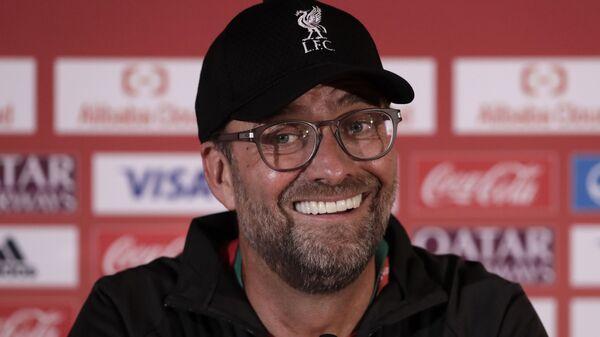 Liverpool's manager Jurgen Klopp speaks during a press conference - Sputnik International