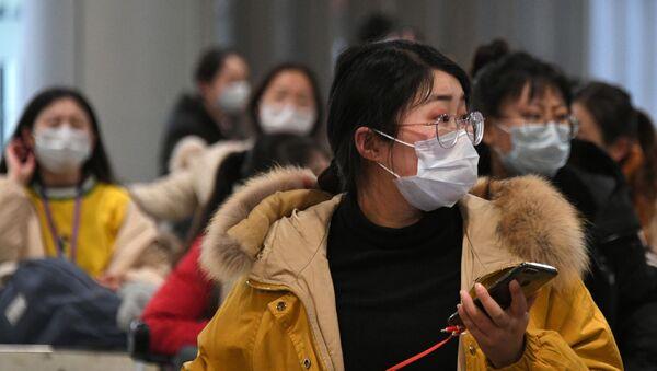 Passengers Wearing Masks at Terminal F of Sheremetyevo Airport - Sputnik International