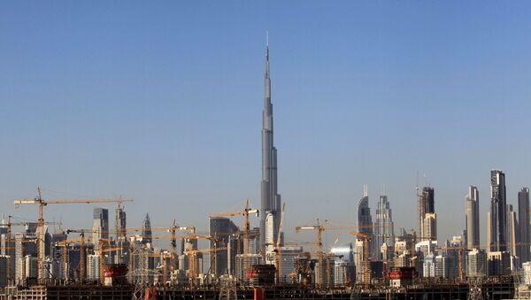 General view of Dubai's cranes at a construction site in Dubai, UAE - Sputnik International