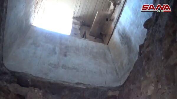 Jabhat al-Nusra* terrorist organisation's underground fortified headquarters in Maarat al-Numan city  - Sputnik International