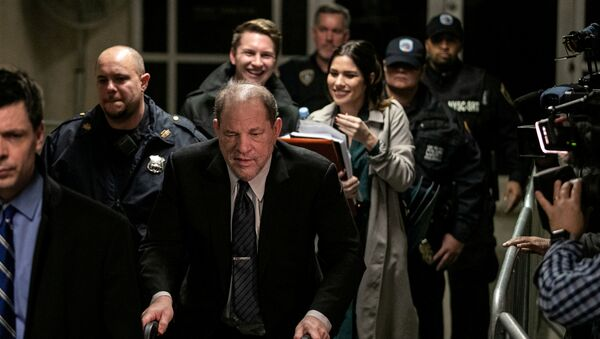 Film producer Harvey Weinstein leaves at New York Criminal Court for his sexual assault trial in the Manhattan borough of New York City, New York, U.S., February 3, 2020 - Sputnik International